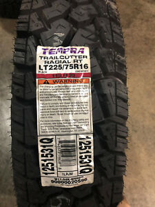 4 New Lt 225 75 16 Tempra Trail Cutter R t 10 Ply Tires