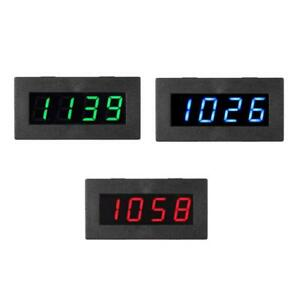 Car 4 Led Digital Frequency Tachometer Motor Speed Meter Rpm C5p3 Test 5 9999r M