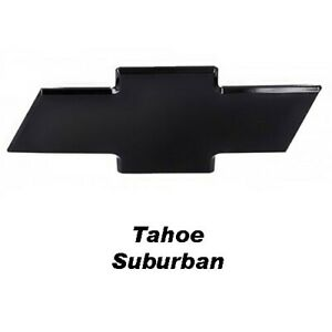 01 06 Chevy Tahoe Suburban Front Billet Bowtie Grille Emblem Smooth Black