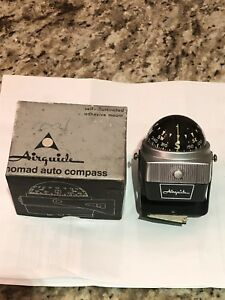 Vintage Nos Airguide Model 79c Deluxe Auto Compass Accessory In Box