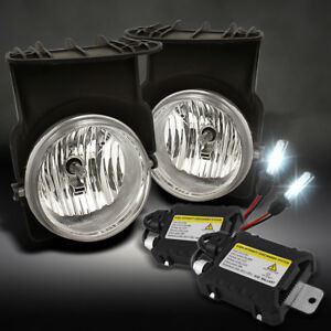 Slim Ballast Xenon Hid Upgrade Kit 03 06 Gmc Sierra Clear Driving Fog Lights
