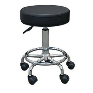 Stool Medical Doctor Office Furniture Lab Adjustable Dental Exam Chair Black 14