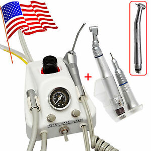 Dental Turbine Unit Work W Air Compressor Sn4 High slow Speed Handpiece 4hole