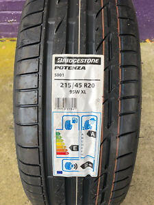 2 New 215 45 20 Bridgestone Potenza S001 95w Tires