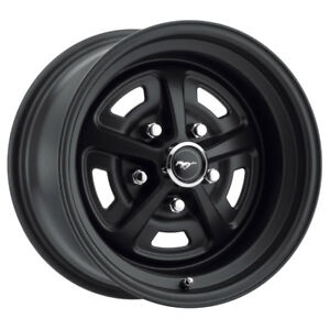 Legendary Wheel Co Lw50 50754e Mustang Magnum 500 Alloy Wheel 15 X7 Stealth Bl