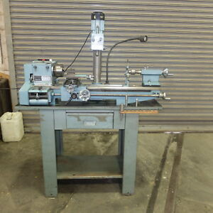Emco Model Maximat V 10 Engine Lathe With Milling Attachment 115 V