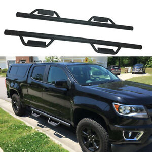 For 2007 2018 Chevy Silverado gmc Sierra 1500 Crew Cab Side Step Nerf Bars Steel