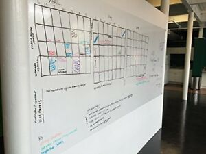 Extra Large 4 5 x8 Peel And Stick Premium Dry Erase Film By Think Board