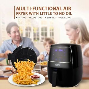 Electric Touch Screen No Oil Air Fryer Oil Free Oil Less Temperature Control