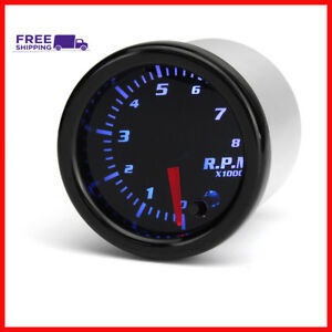 Universal 2 Inch 52mm Tachometer Tach Rpm Gauge Digital 7 Color Led Display Car