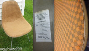 Eames Alexander Girard Checkerboard Vintage Side Shell Herman Miller Chair Rare