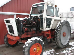 Case 1370 Tractor W 12 4r 54 Tires On Unverferth Rims 75 Tread Needs Trans
