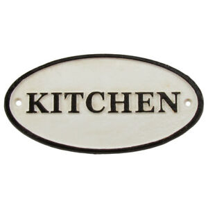 Antique Vintage Style Cast Iron Kitchen Wall Sign Old House Farmhouse Home Decor