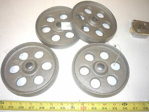 4 Cast Iron Wheel Garden Barbecue Grill Gas Engine Cart Wheel
