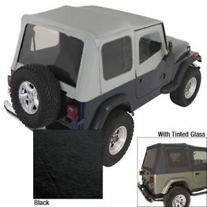 Jeep Wrangler Yj 88 95 Soft Top Replacement Tint Black X 13702 15