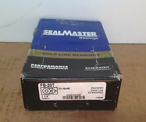 Fb20t Sealmaster New Ball Bearing Flange Unit