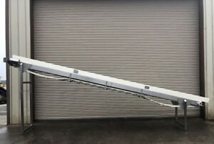 24 X 22 Long Stainless Incline Cleated Belt Food Conveyor Conveying