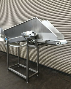 18 X 9 Long Stainless Incline Cleated Belt Food Conveyor 2 Conveying