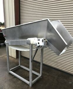 18 X 70 Incline Cleated Belt Food Conveyor 5 Food Product Conveying