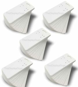 The Display Guys Pack Of 500 Pcs 2x4 Inch 5cmx10xm White Paper Necklace