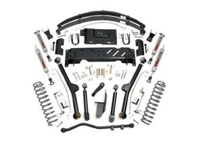 Rough Country 6 5 Long Arm Suspension Lift Kit Jeep Cherokee Xj 4wd 61822
