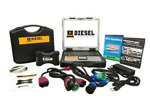 Universal Diesel Truck Diagnostic Tool Scanner Laptop Kit Panasonic Cf30 Tough