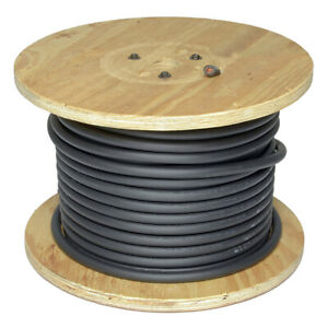 4 On 500 ft Reel Black Welding Cable