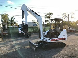 2004 Bobcat 331g Mini Excavator Open Cab Rubber Tracks Push Blade