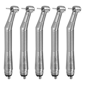5pcs Dental Mini Head Push Button High Speed Turbine Handpiece 4 Hole Ruixin