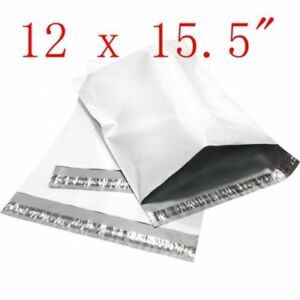 12 X 15 5 Poly Mailers Plastic Envelopes Shipping Bags 50 100 200 300 500 1000