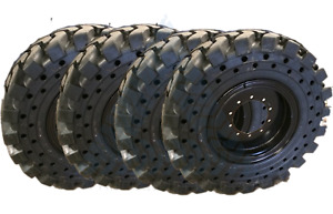 Set Of 4 1300x24 Solid Tires W Wheels 1300 24 13 00x24 Tires Lull Telehandler