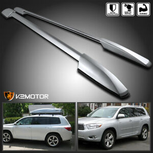 For 2008 2013 Toyota Highlander Aluminum Factory Style Roof Rack Side Rails Pair