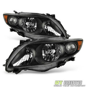 For 2009 2010 Toyota Corolla S xrs Headlights Amber Reflector Headlamps 09 10