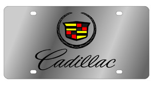 Cadillac 2001 Logo Mirror Polished 3d Logo Finish Stainless Steel License Plate
