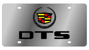 Cadillac Dts Logo Mirror Polished 3d Logo Finish Stainless Steel License Plate