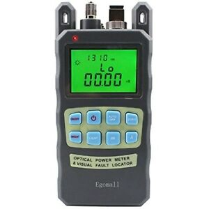 Egomall Meter Sockets Fiber Optic Cable Tester 70 To 10dbm And 1mw 3 1mi Optic