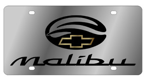 Chevrolet Malibu Mirror Polished 3d Finish Logo Stainless Steel License Plate