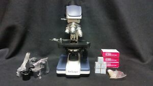 Amscope Led Lab Compound Microscope Bundle W Accessories Fast Delivery