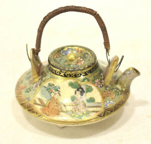 Antique Satsuma Miniature Teapot