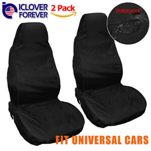 2x Universal Car Front Seat Covers Waterproof For Suv Van Auto Pet Dog Washable