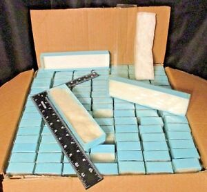 New Lot 105 8 x2 x1 Baby Blue Clear Top Cotton Filled Necklace Bracelet Boxes