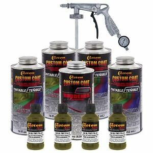 Bed Liner Olive Green 0 875 Gallon Urethane Spray on Truck Kit Spray Gun