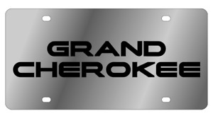 Jeep Grand Cherokee Mirror Polished 3d Finish Logo Stainless Steel License Plate