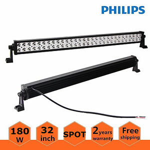 Philips 32 Inch 180w Led Light Bar Offroad Driving Suv Boat Spot Lamp Ford 30 34