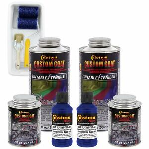 Bed Liner Custom Coat Ultramarine Blue 2l Urethane Spray On Truck Kit