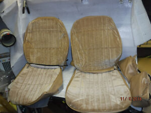 New Repo 1986 1988 Monte Carlo Front Bucket Seat Covers Saddle Cloth Headrests