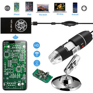 40 1600x Usb Camera Endoscope Magnifier Microscope Digital For Phone Windows Mac