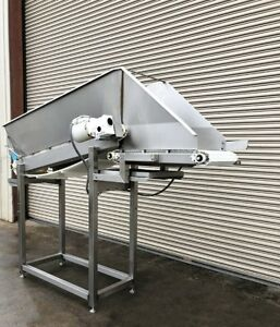 18 X 9 Long Stainless Incline Cleated Belt Food Conveyor 1 Conveying