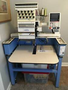 Happy Embroidery Machine Hca 1501 40ttc 15 Needle Commercial Embroidery