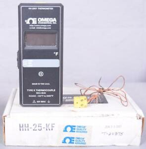Omega Hh 25kf Thermocouple Thermometer Nicr nial 120 To 2000 42v